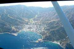 Flying to Catalina